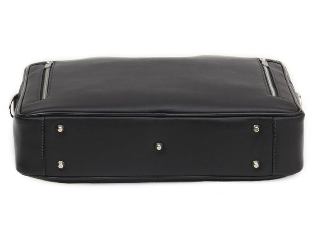 Мужская кожаная сумка Black Diamond BD14A чёрная - Фото № 5