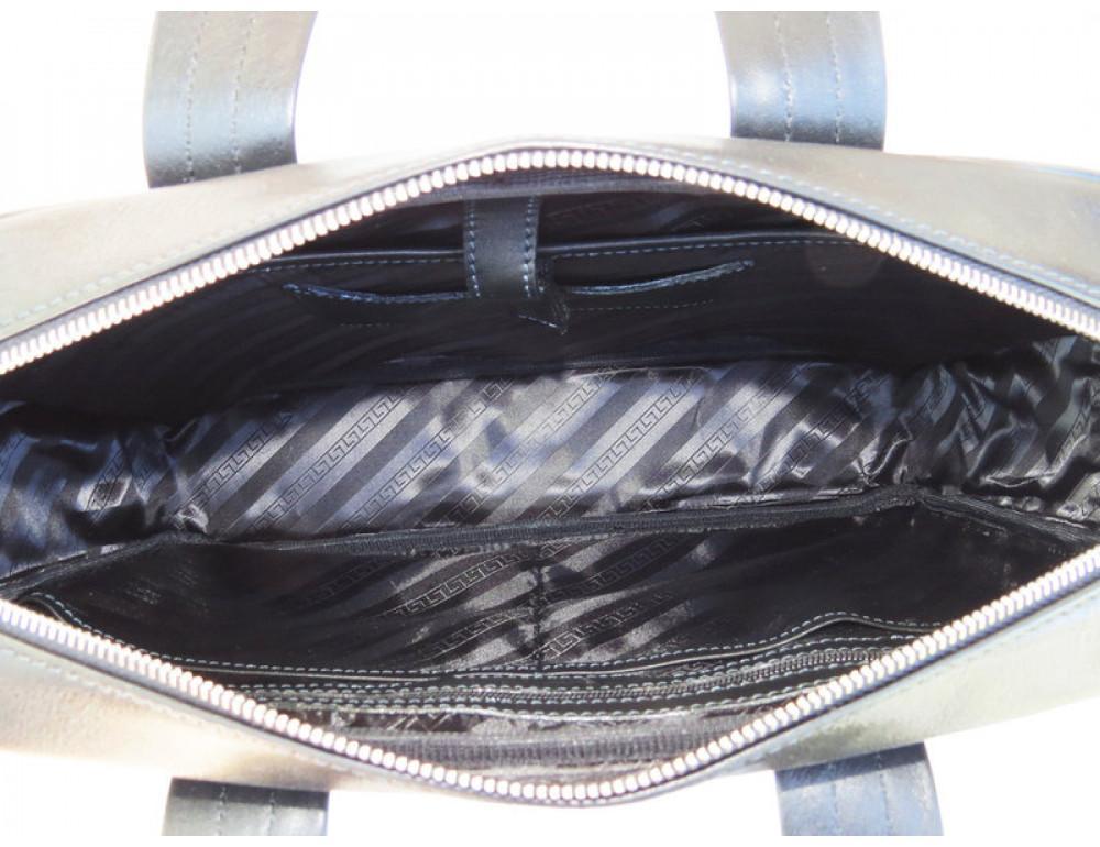 Мужская кожаная сумка Black Diamond BD14A чёрная - Фото № 7