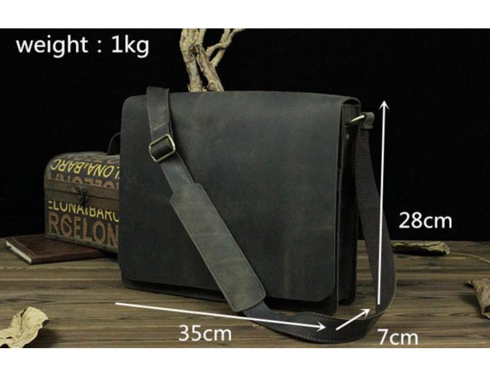 Мужская сумка на плечо Bexhill BXA603BD тёмно-коричневый - Фото № 4