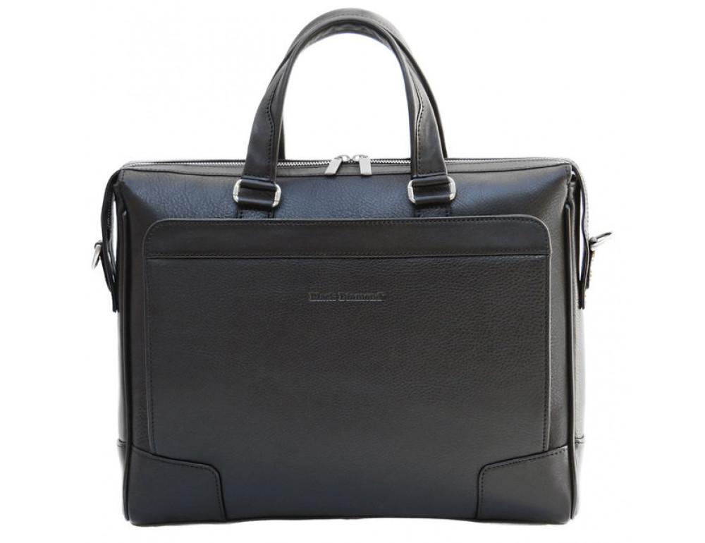 Чоловіча шкіряна сумка Black Diamond BD10A чорна - Фотографія № 2