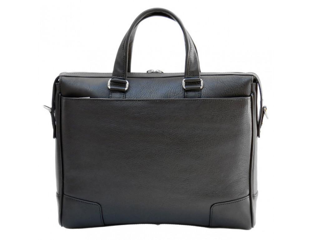 Чоловіча шкіряна сумка Black Diamond BD10A чорна - Фотографія № 3
