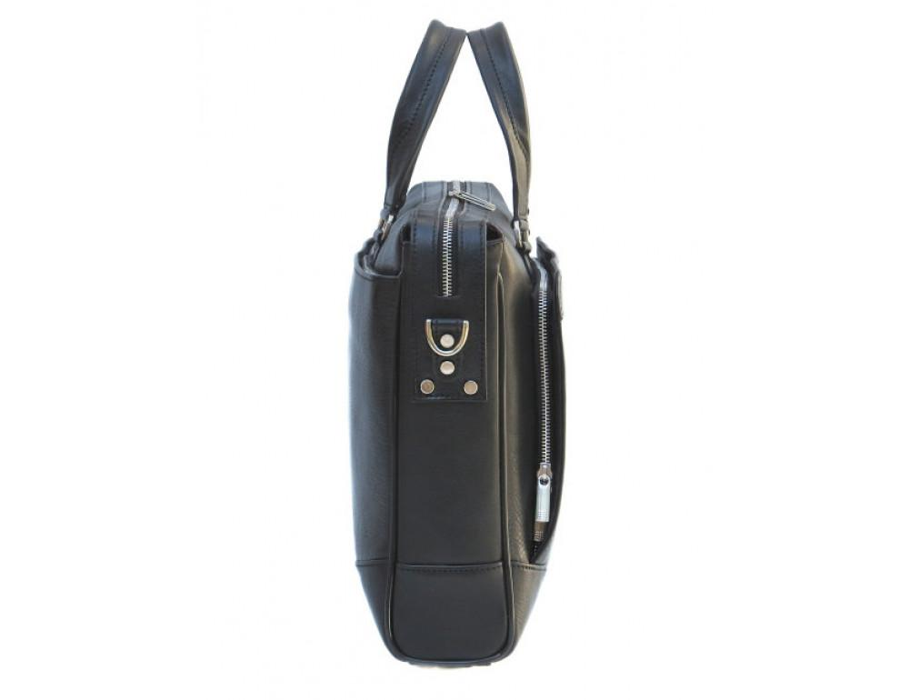 Чоловіча шкіряна сумка Black Diamond BD10A чорна - Фотографія № 4