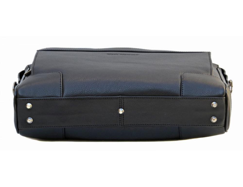 Чоловіча шкіряна сумка Black Diamond BD10A чорна - Фотографія № 5