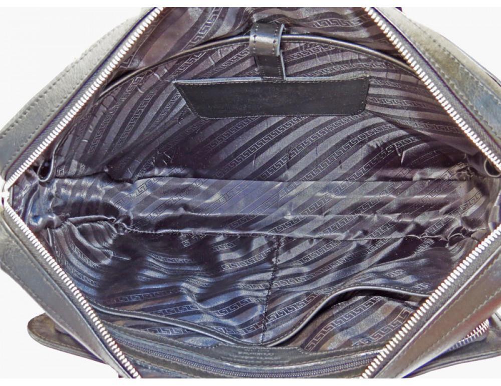 Чоловіча шкіряна сумка Black Diamond BD10A чорна - Фотографія № 7