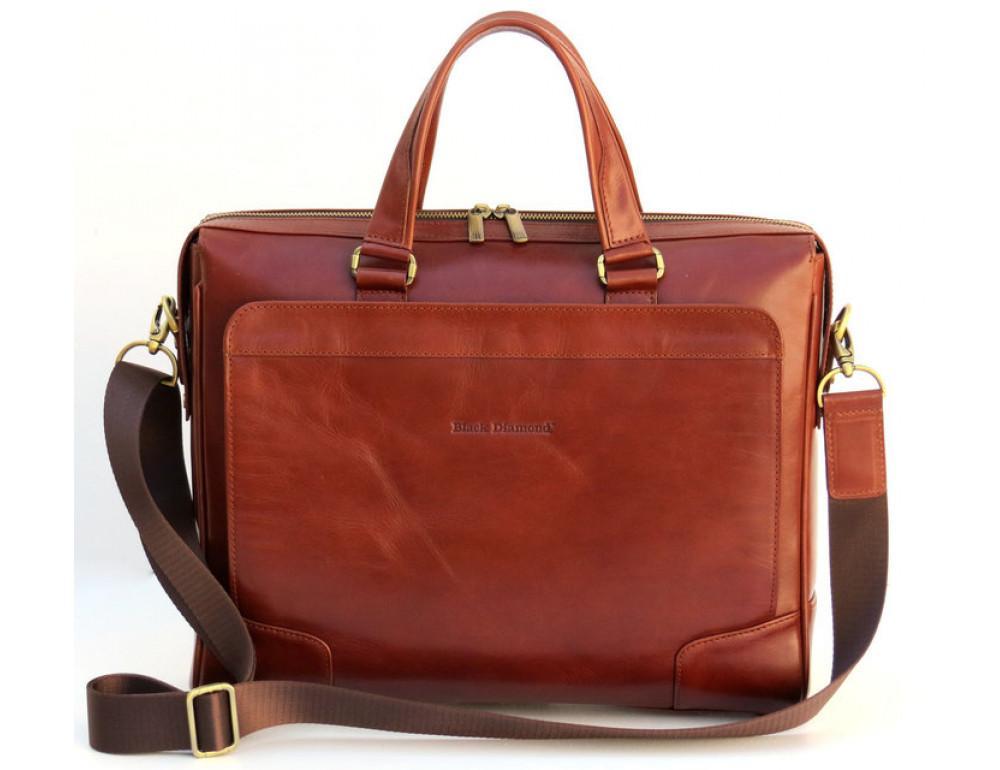 Чоловіча шкіряна сумка Black Diamond BD10C коричнева - Фотографія № 3