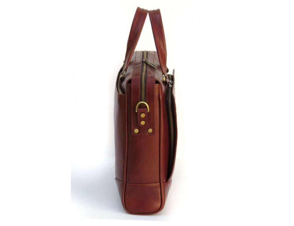 Чоловіча шкіряна сумка Black Diamond BD10C коричнева - Фотографія № 4