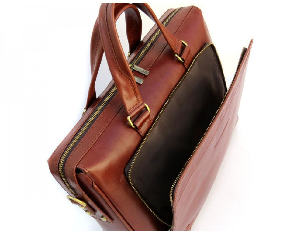 Чоловіча шкіряна сумка Black Diamond BD10C коричнева - Фотографія № 6