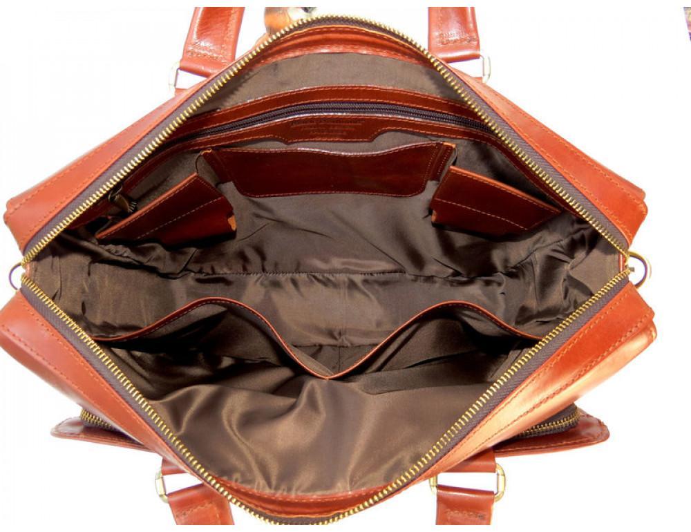 Чоловіча шкіряна сумка Black Diamond BD10C коричнева - Фотографія № 8