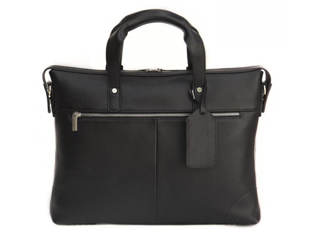 Чоловіча шкіряна сумка Black Diamond BD4A чорна - Фотографія № 2