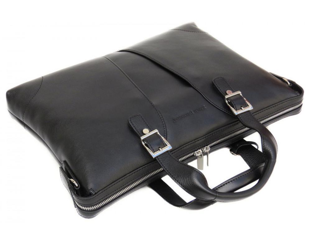 Чоловіча шкіряна сумка Black Diamond BD4A чорна - Фотографія № 5