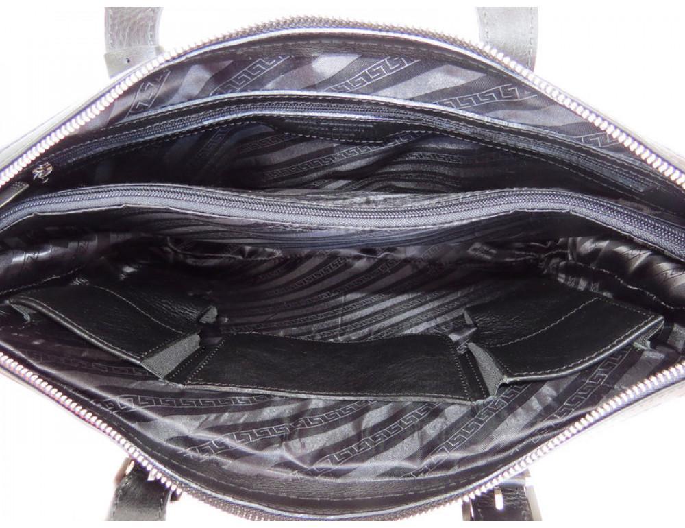 Чоловіча шкіряна сумка Black Diamond BD4A чорна - Фотографія № 6