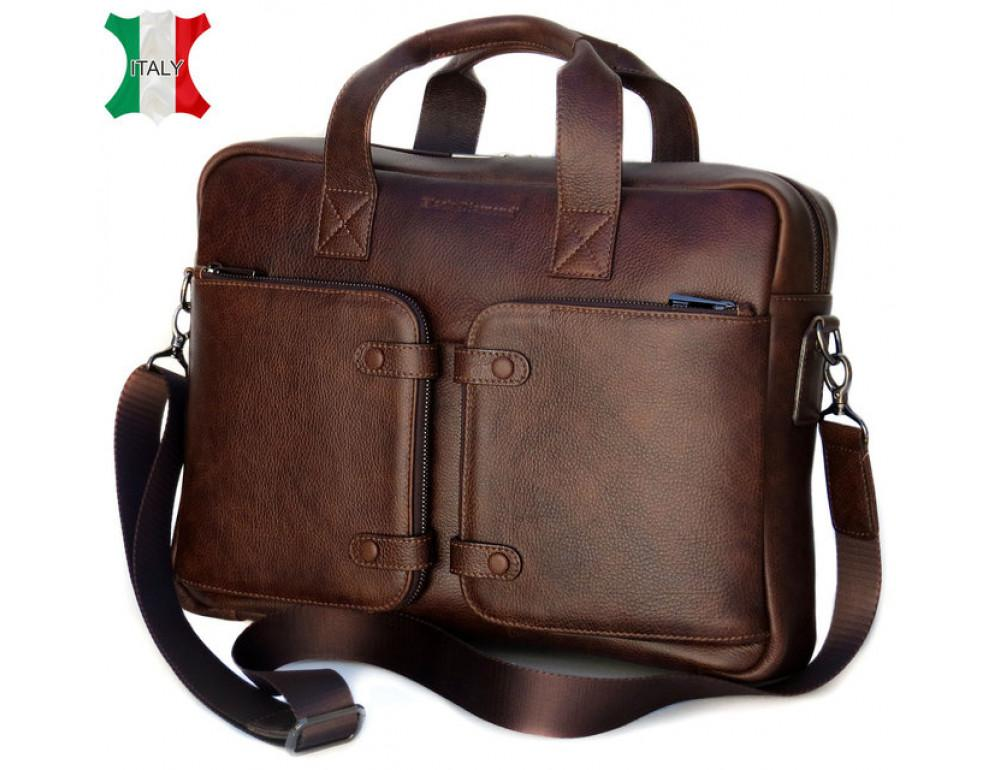 Шкіряна чоловіча сумка Black Diamond BD7Cshar коричневий - Фотографія № 1