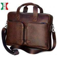 Кожаная мужская сумка Black Diamond BD7Cshar коричневый