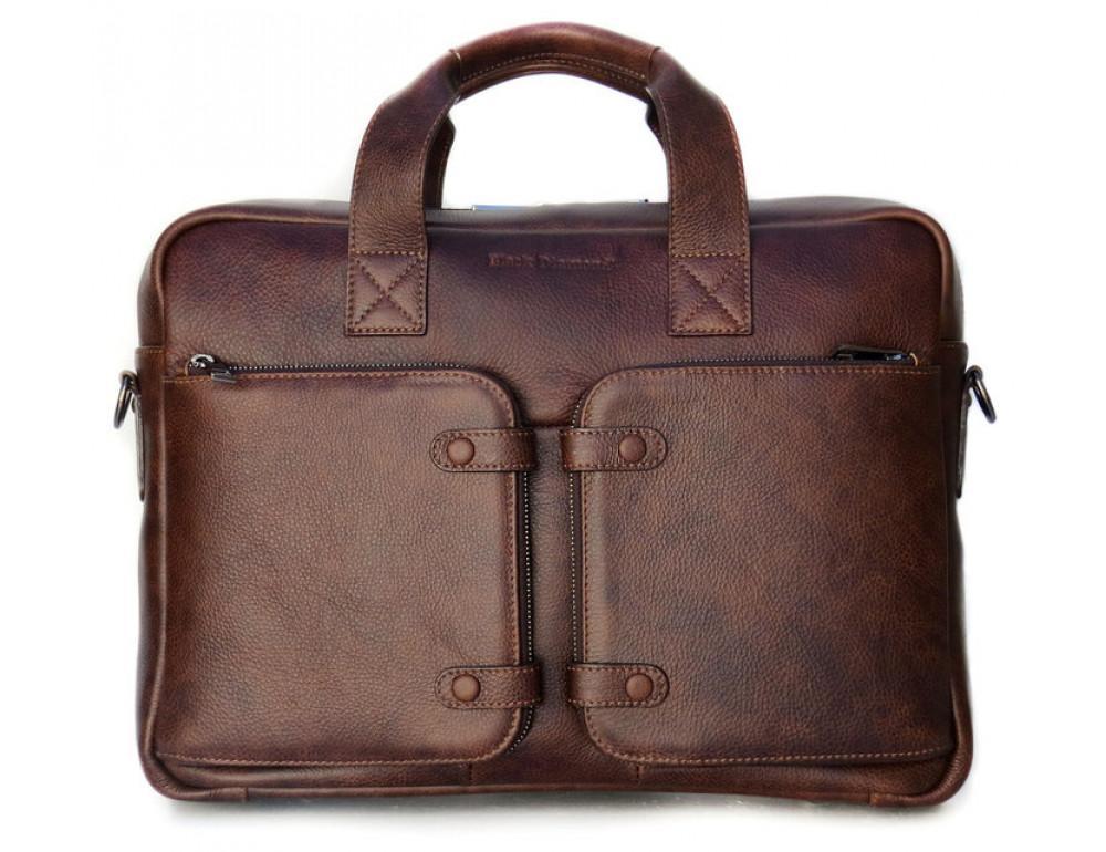 Шкіряна чоловіча сумка Black Diamond BD7Cshar коричневий - Фотографія № 3