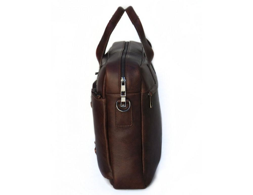 Шкіряна чоловіча сумка Black Diamond BD7Cshar коричневий - Фотографія № 5