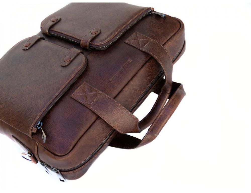 Шкіряна чоловіча сумка Black Diamond BD7Cshar коричневий - Фотографія № 6