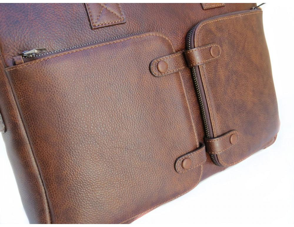 Шкіряна чоловіча сумка Black Diamond BD7Cshar коричневий - Фотографія № 7
