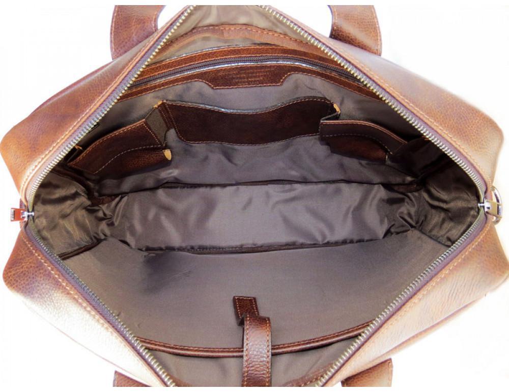 Шкіряна чоловіча сумка Black Diamond BD7Cshar коричневий - Фотографія № 8