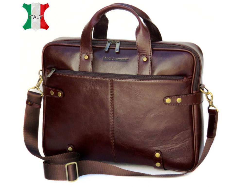 Мужская кожаная сумка Black Diamond BD8C коричневый