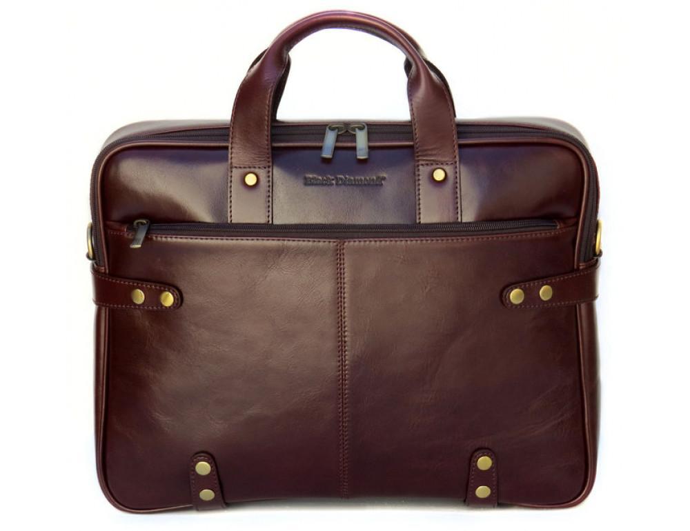 Мужская кожаная сумка Black Diamond BD8C коричневый - Фото № 2