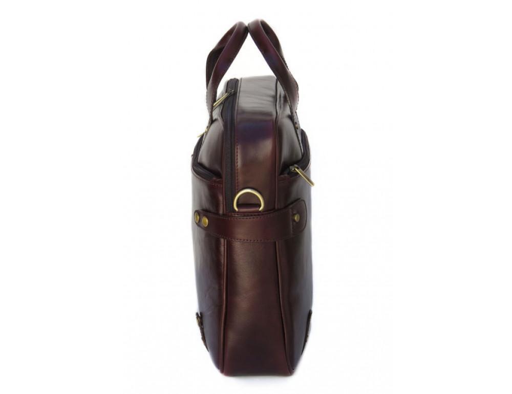 Мужская кожаная сумка Black Diamond BD8C коричневый - Фото № 3