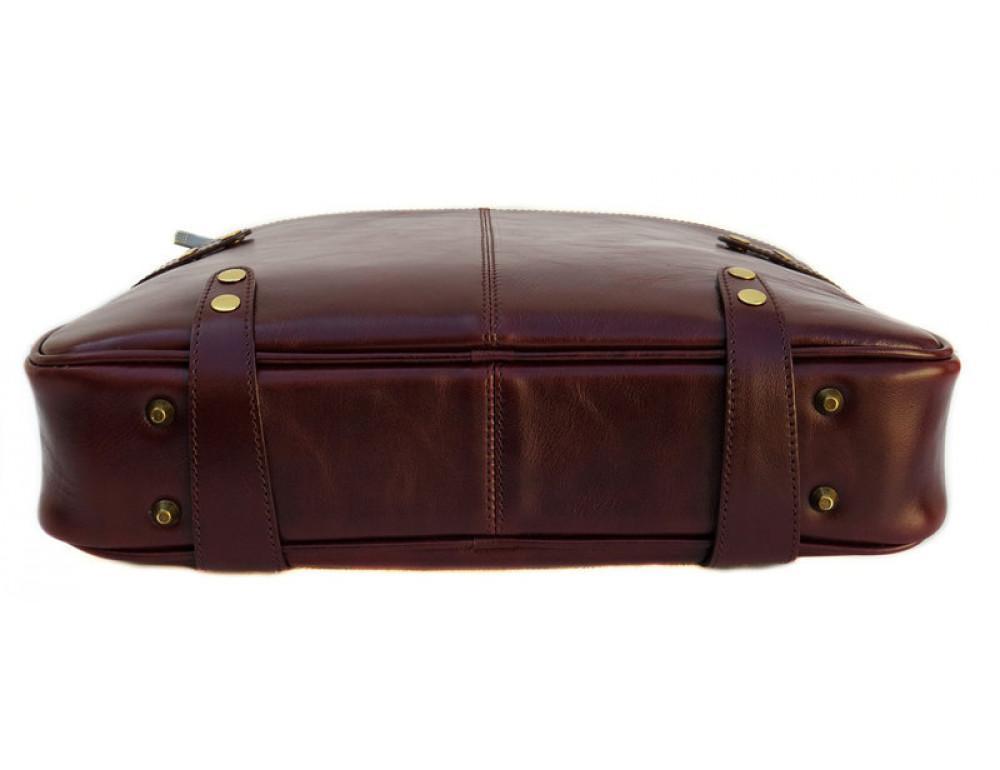 Мужская кожаная сумка Black Diamond BD8C коричневый - Фото № 4