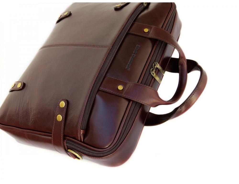 Мужская кожаная сумка Black Diamond BD8C коричневый - Фото № 5