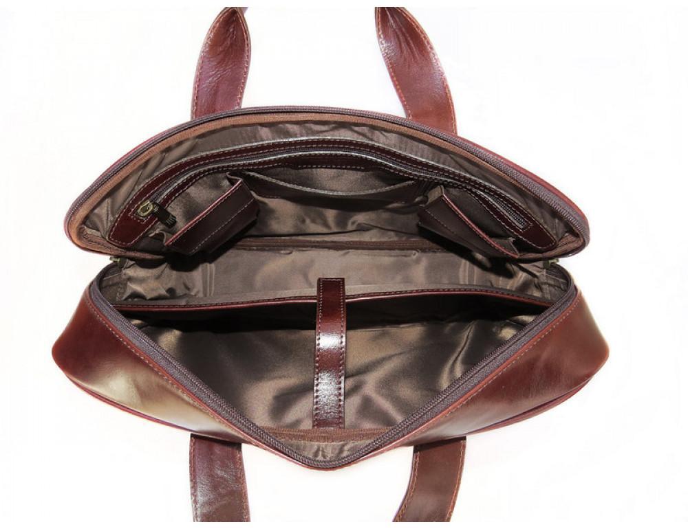 Мужская кожаная сумка Black Diamond BD8C коричневый - Фото № 6