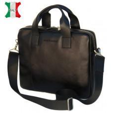 Мужская кожаная сумка Black Diamond BDM18A чёрная