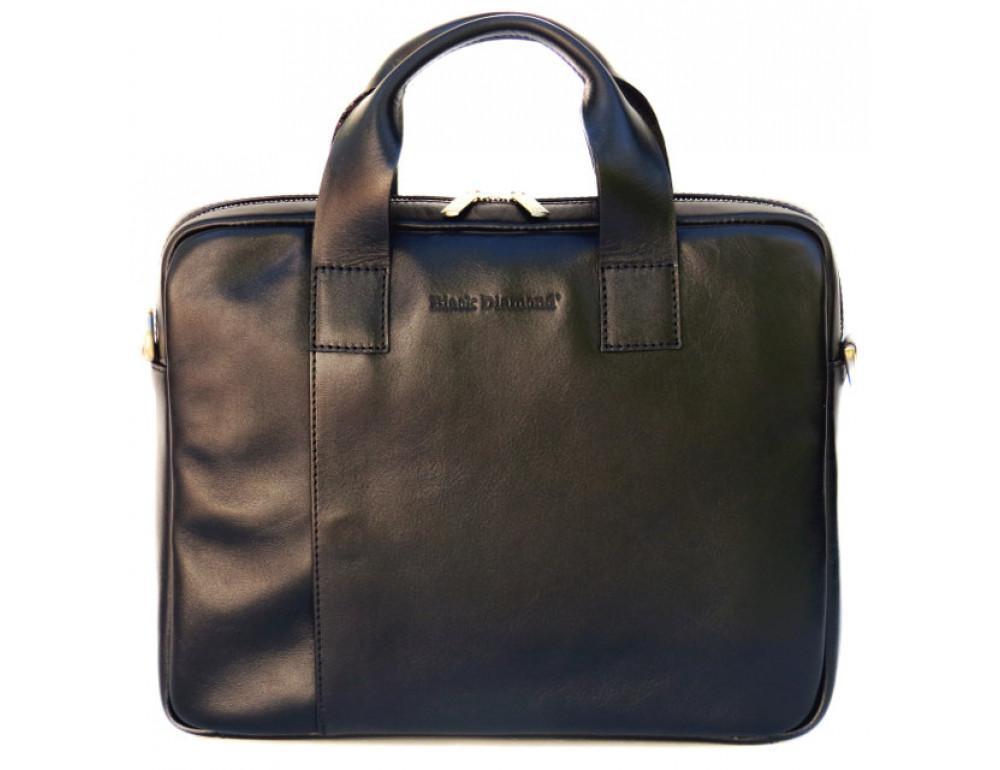 Чоловіча шкіряна сумка Black Diamond BDM18A чорна - Фотографія № 2