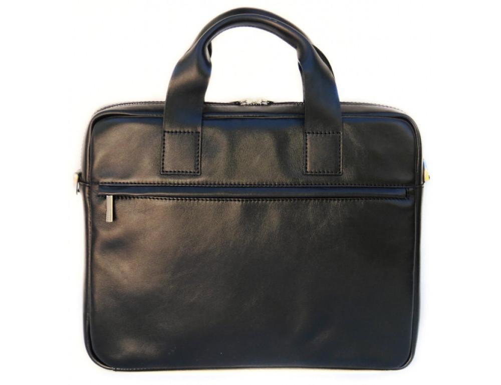 Чоловіча шкіряна сумка Black Diamond BDM18A чорна - Фотографія № 3