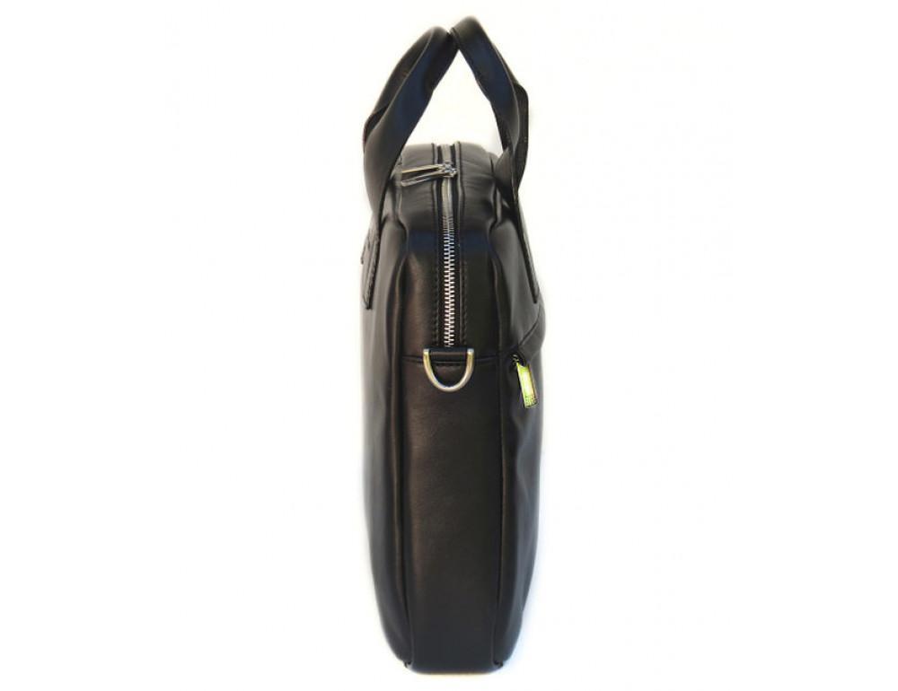 Чоловіча шкіряна сумка Black Diamond BDM18A чорна - Фотографія № 4