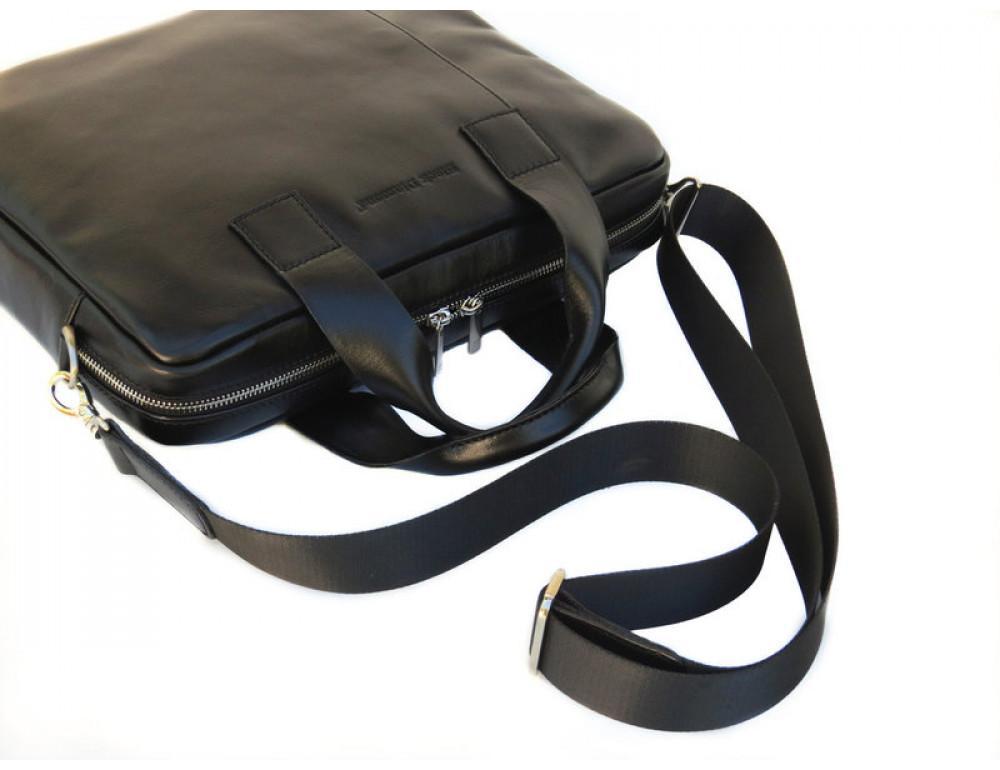 Чоловіча шкіряна сумка Black Diamond BDM18A чорна - Фотографія № 5