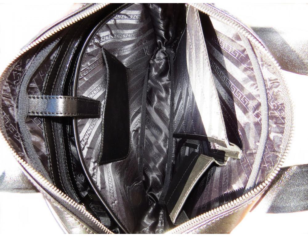 Чоловіча шкіряна сумка Black Diamond BDM18A чорна - Фотографія № 7