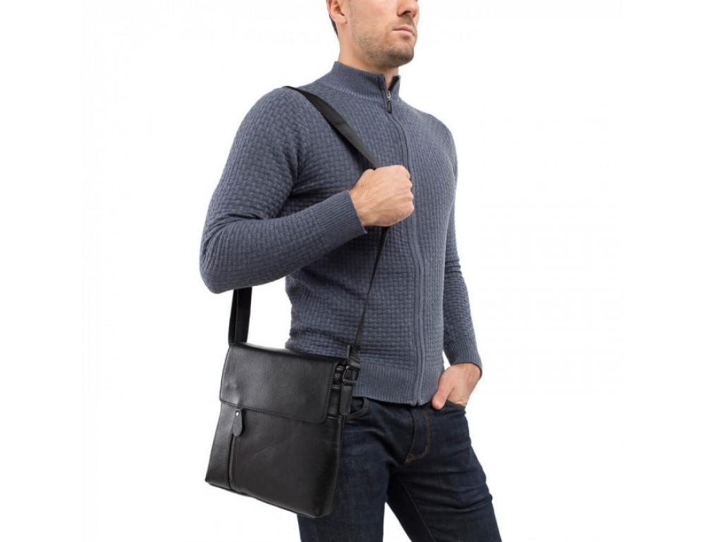 Мужская кожаная сумка через плечо TIDING BAG A25-238-1A - Фото № 2