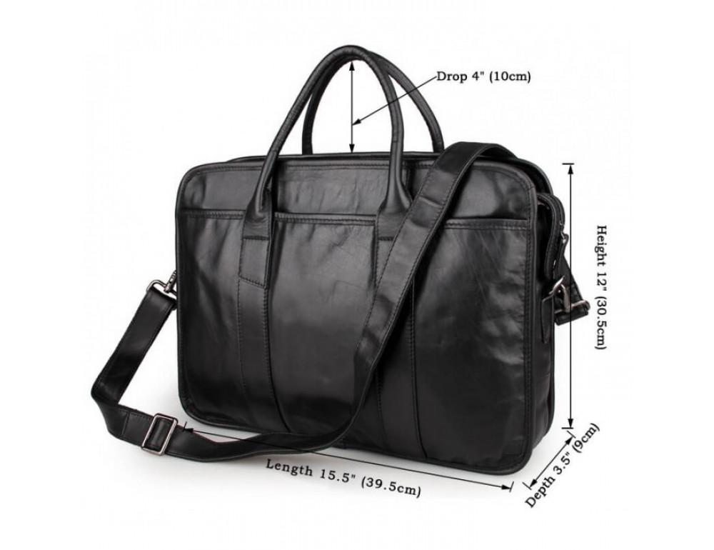 Мужская кожаная сумка JASPER-MAINE 7321A - Фото № 8