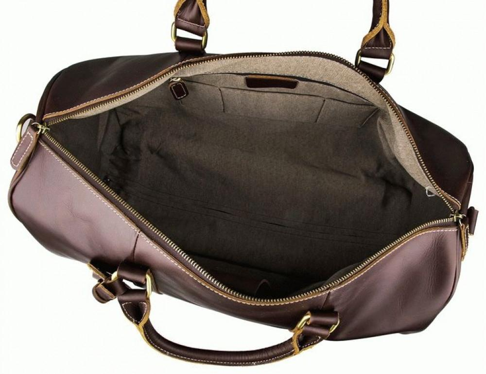 Дорожная кожаная сумка на колёсиках S.J.D. 7077LC - Фотографія № 5