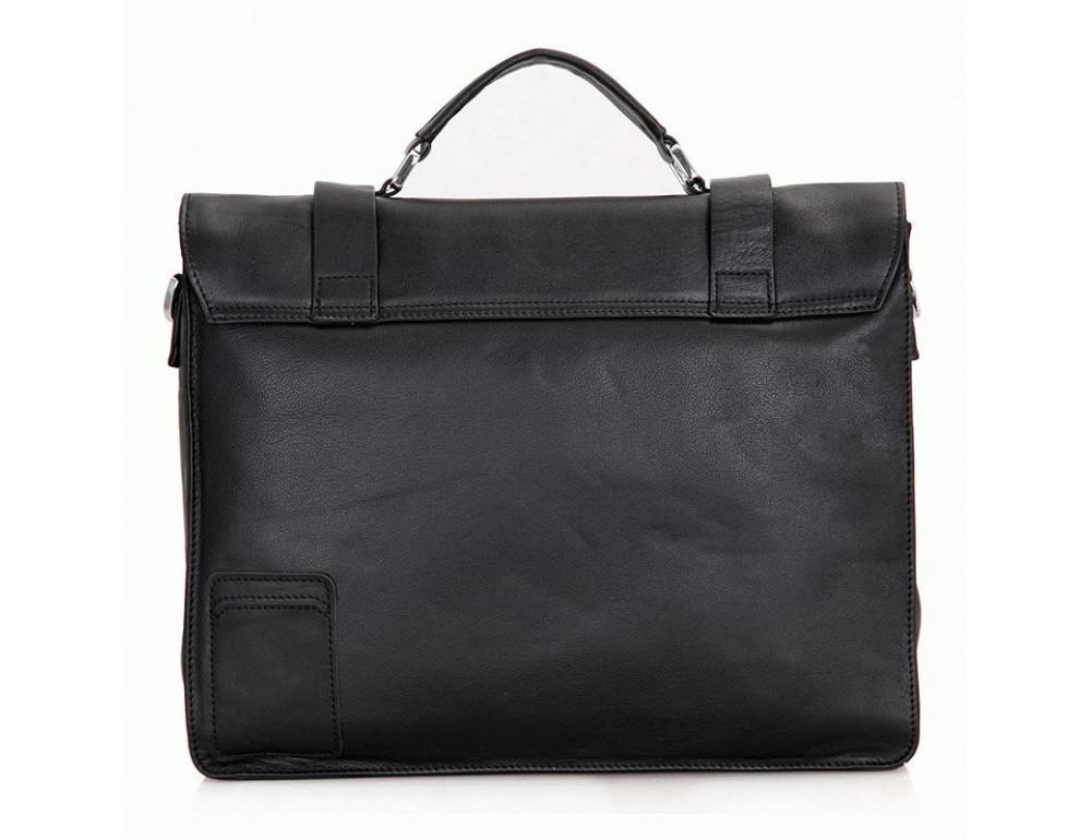 Чоловіча шкіряна сумка TIDING BAG 7100A чорний - Фотографія № 2