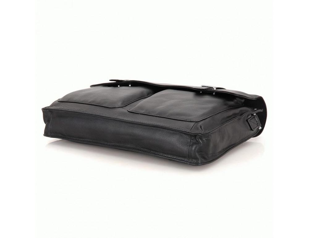 Чоловіча шкіряна сумка TIDING BAG 7100A чорний - Фотографія № 4
