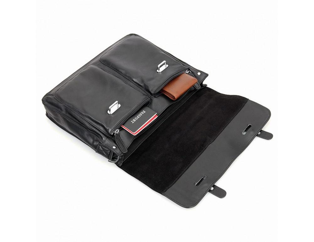 Чоловіча шкіряна сумка TIDING BAG 7100A чорний - Фотографія № 5