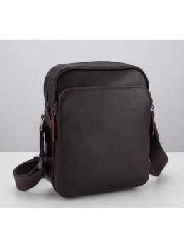 Мужской кожаный мессенджер TIDING BAG M47-22005-2C коричневый