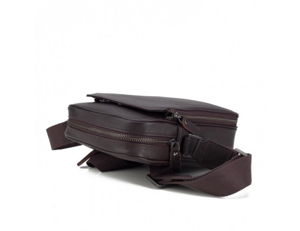 Чоловічий шкіряний месенджер TIDING BAG M47-22005-2C коричневий - Фотографія № 5