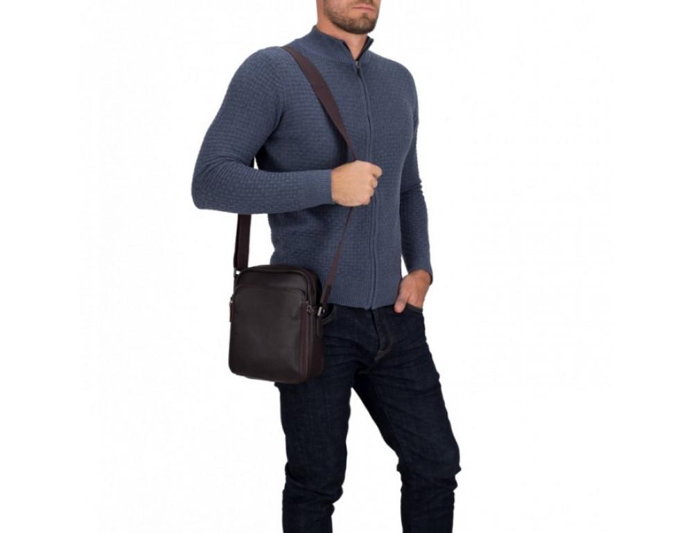 Чоловічий шкіряний месенджер TIDING BAG M47-22005-2C коричневий - Фотографія № 2