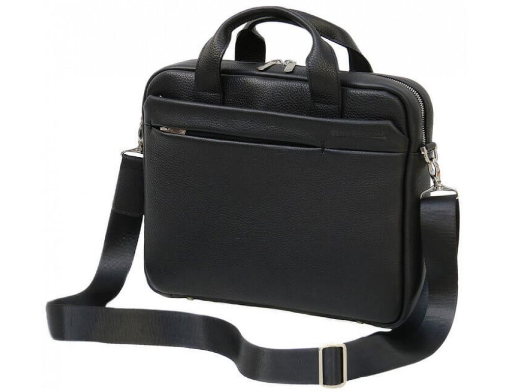 Мужская кожаная сумка Black Diamond BD25AF чёрная