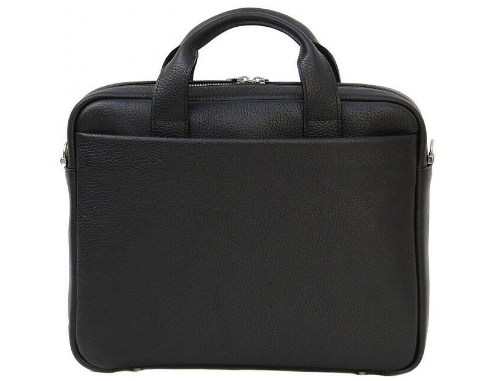 Чоловіча шкіряна сумка Black Diamond BD25AF чорна - Фотографія № 3