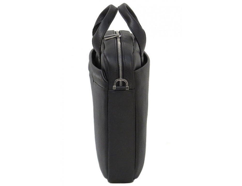 Чоловіча шкіряна сумка Black Diamond BD25AF чорна - Фотографія № 4