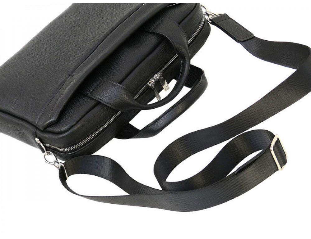 Чоловіча шкіряна сумка Black Diamond BD25AF чорна - Фотографія № 6