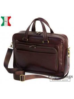 Мужская кожаная сумка Black Diamond BD18C коричневая