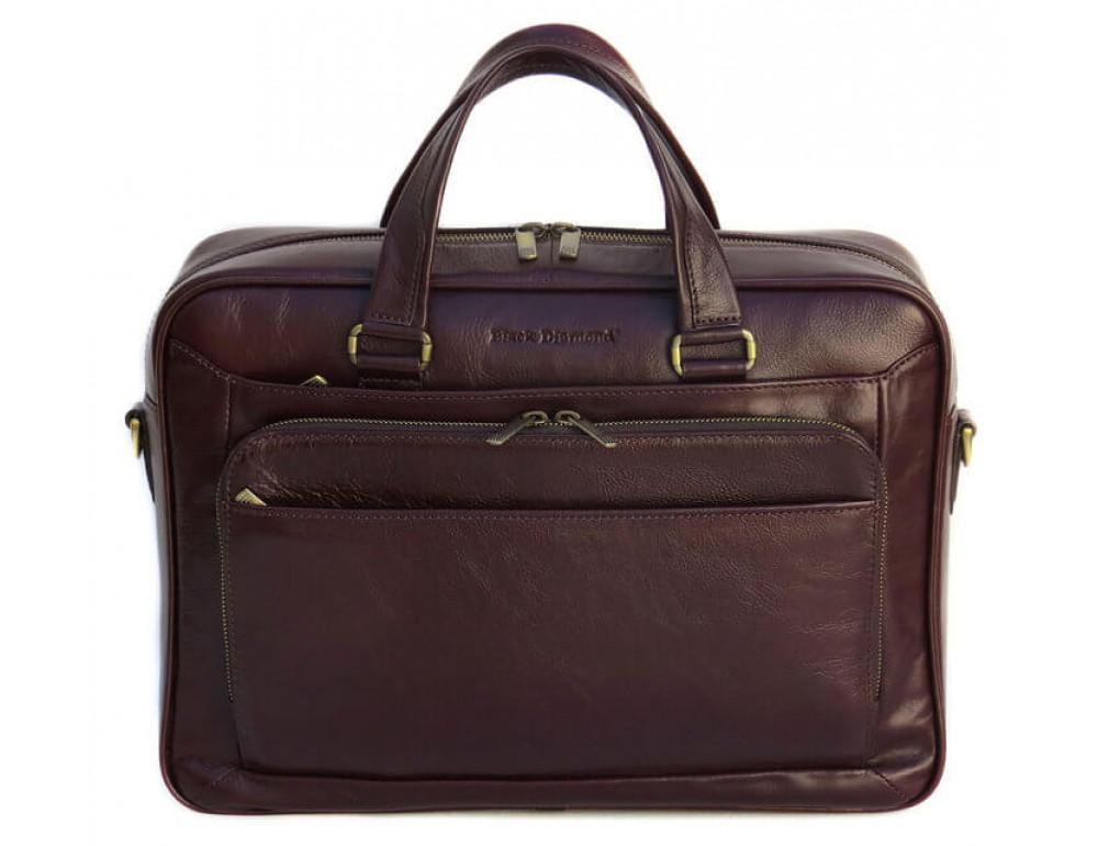 Чоловіча шкіряна сумка Black Diamond BD18C коричнева - Фотографія № 2