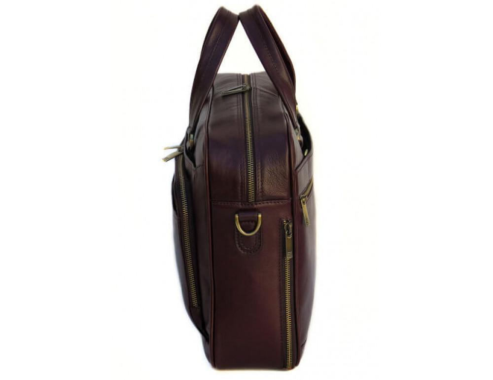 Чоловіча шкіряна сумка Black Diamond BD18C коричнева - Фотографія № 4